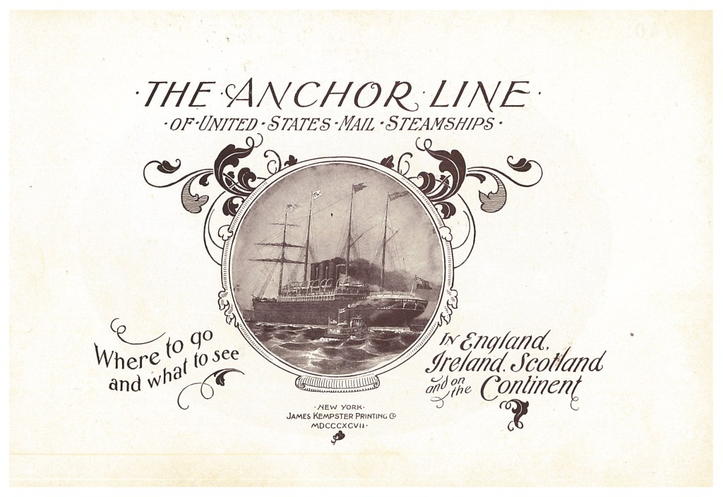 Anchor Line steamship on title page of 1897 Anchor Line trade catalog