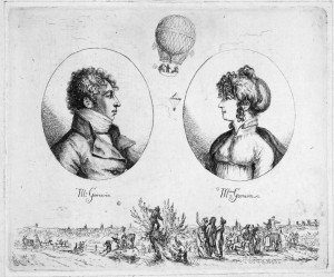 Drawing of Monsieur and Madame Garnerin (Public Domain)