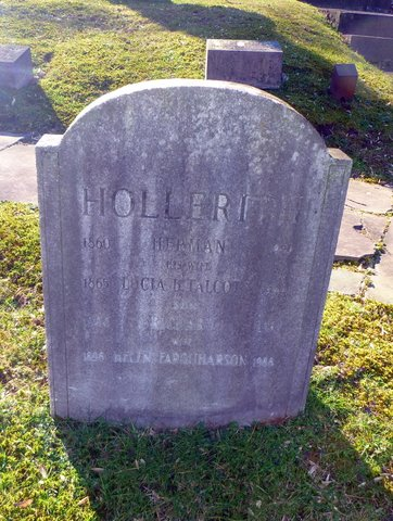 Hollerith Grave, Oak Hill Cemetery (S. Blakely)