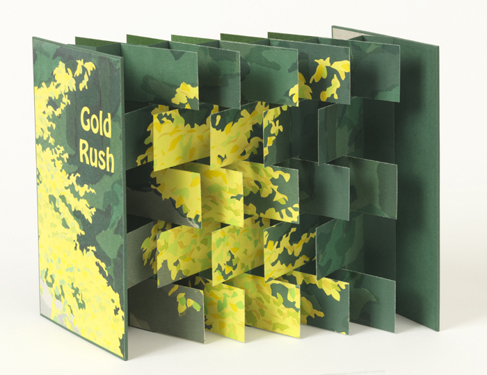 Flag construction pop-up book printed by pochoir