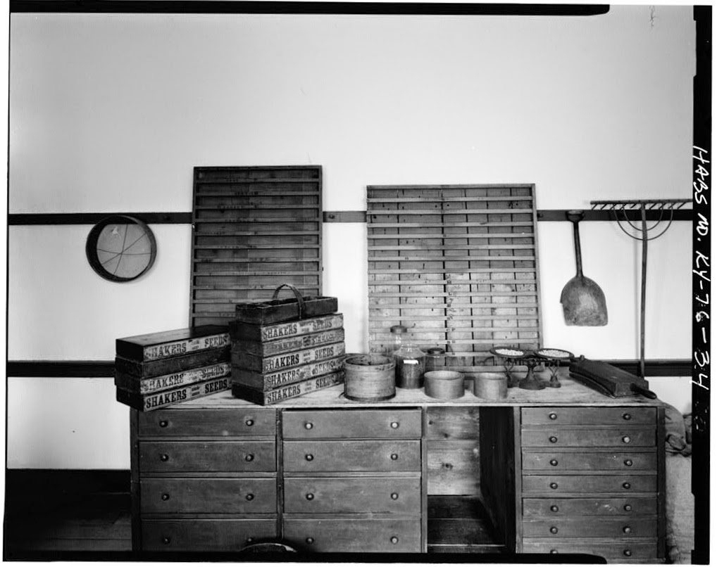 Seed Room, Shakertown, Kentucky (LC Prints & Photographs Division; HABS,84-SHAKT,2-33)