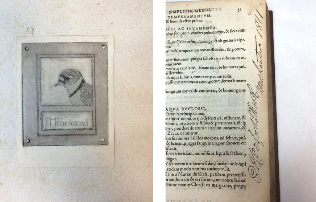 Herbicon book plate and marginalia