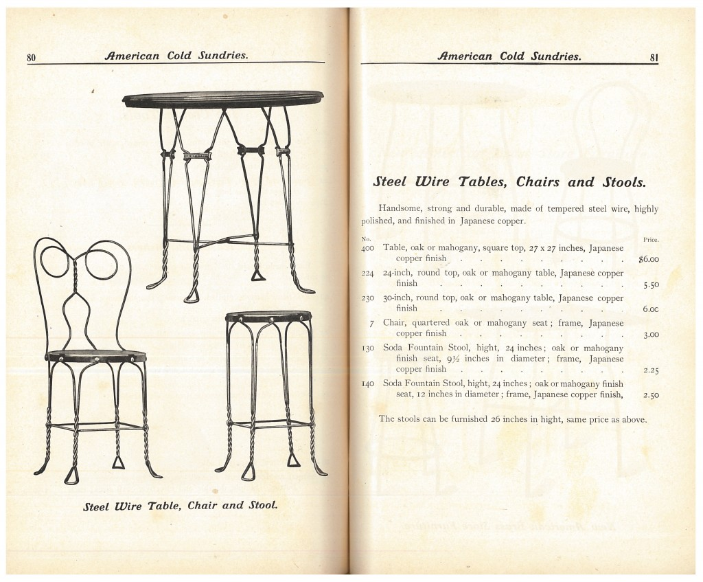 steel wire table, chair, and stool