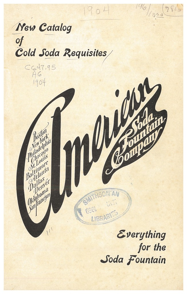title page of American Soda Fountain Co. New Catalog of Cold Soda Requisites