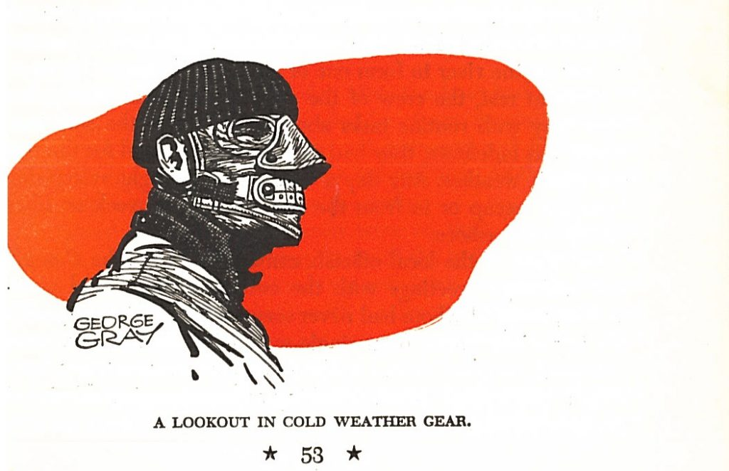 Cold weather face mask. Foley Jr., Sinbad of the Coast Guard, 53.