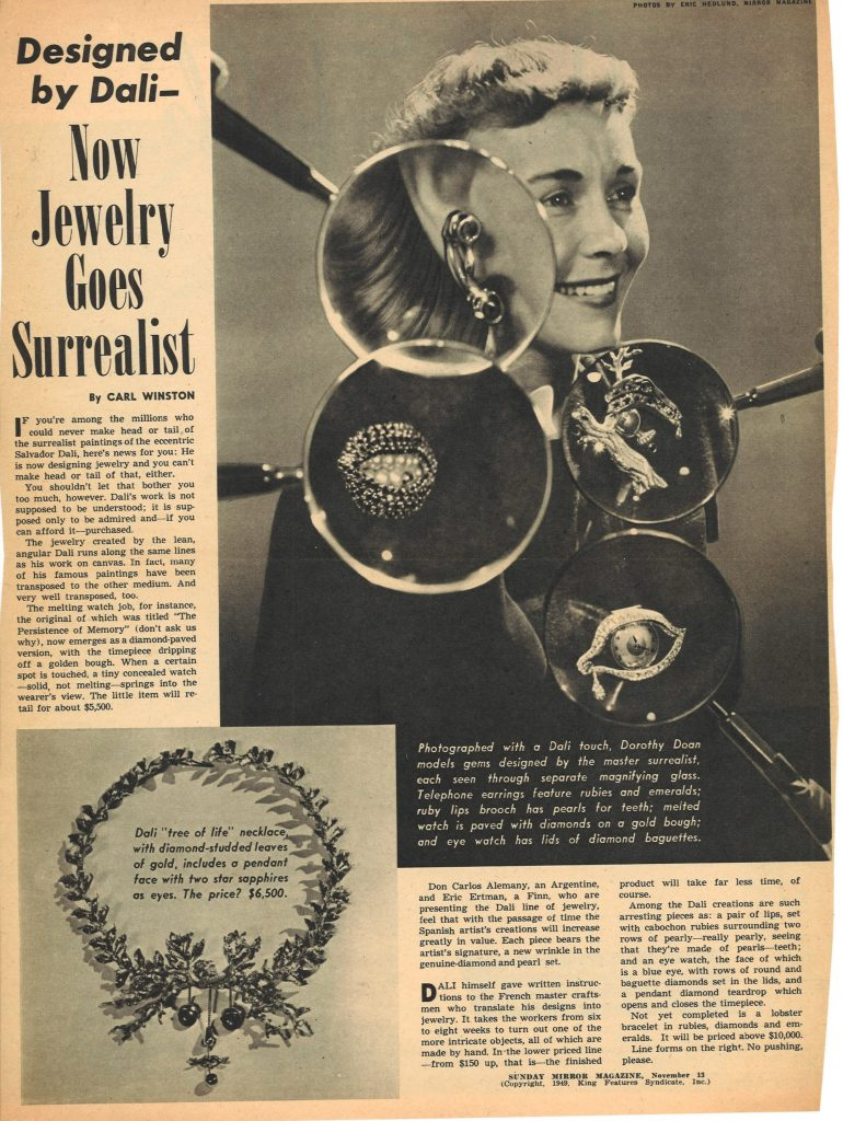 Clipping from the Sunday Mirror Magazine, November 13, 1949-- Hirshhorn Library