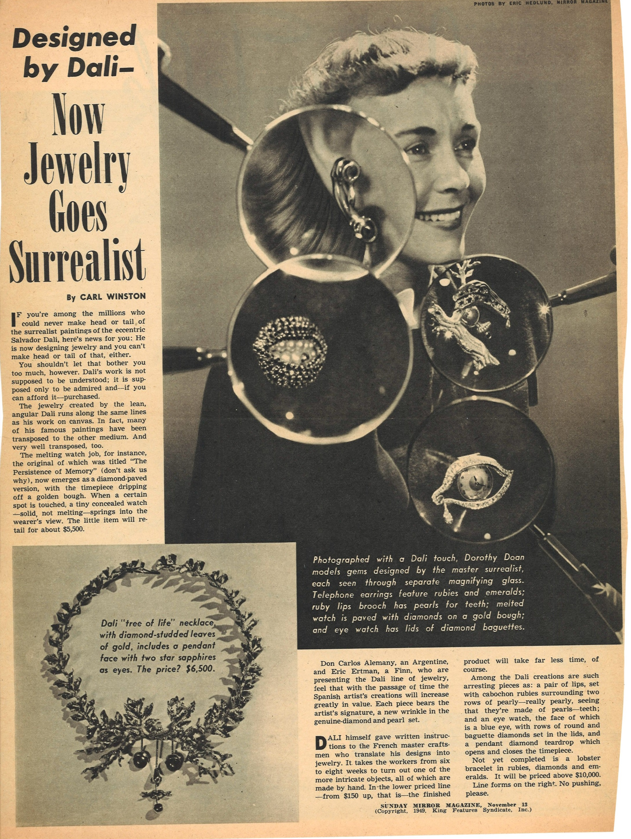 art and artist files reveal surrealist jewels designed by salvador