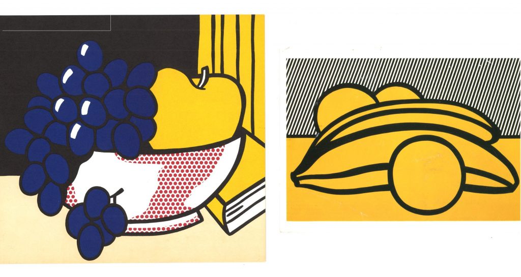 Front of invitations to exhibtions of Lichtenstein's Still Lifes series