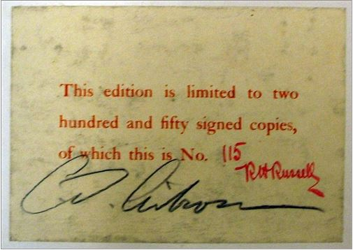 Signed by publisher and author and numbered. Charles Gibson's Americans.