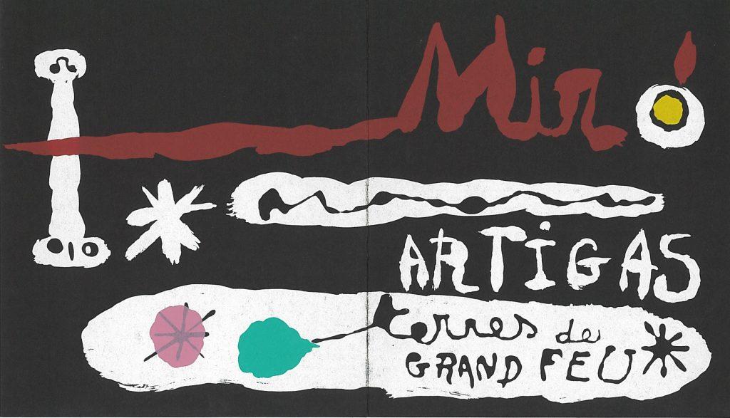 Invitation to Miro's Artigas Terre de Grand Feu at the Pierre Matisse Gallery, 1985-- AAPG