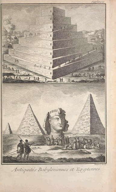 The Wonders of the Ancient World were represented in the Encyclopédie well before the work of the savants of the Institut d'Égypte, a scientific organization that accompanied Napoleon's disastrous campaign in Egypt, 1798-1801.