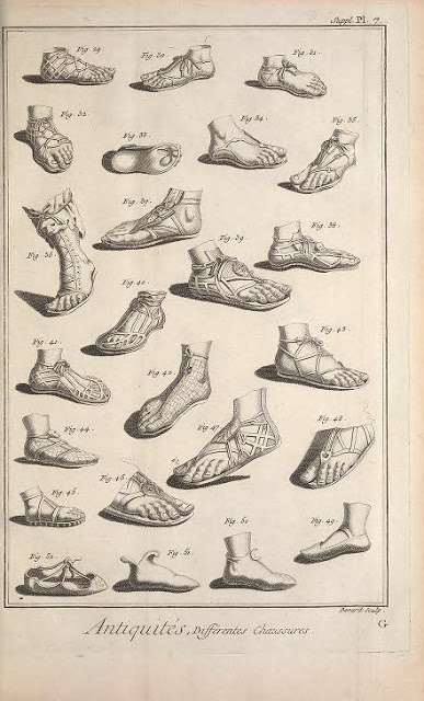 Inspiration for a New York City fashion designer?: footwear from Antiquity.