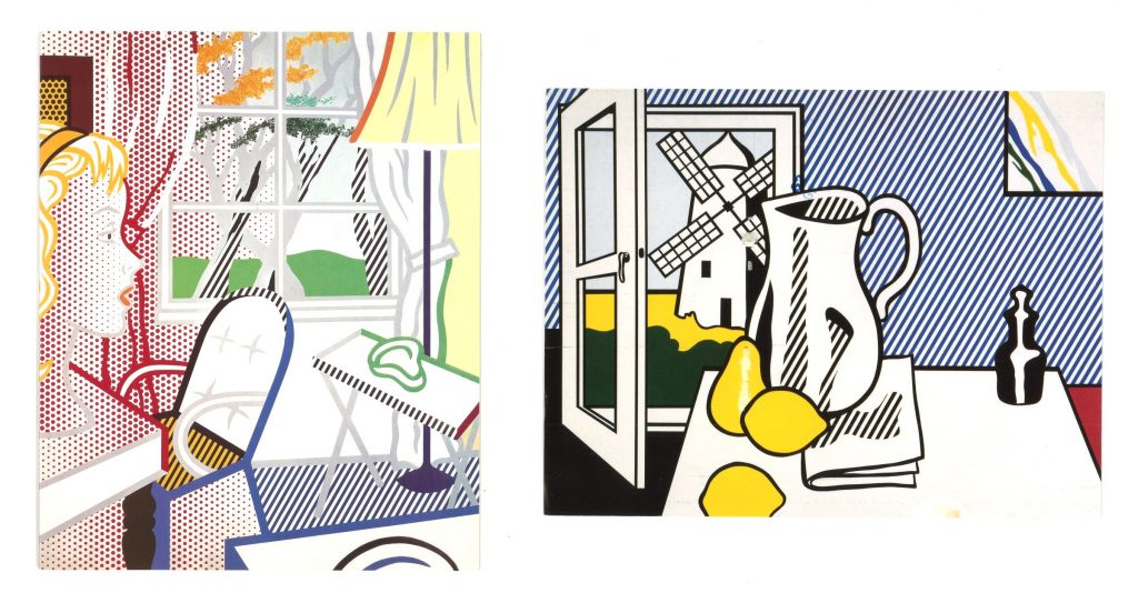 Front of Invitations to shows featuring Lichtenstein's Interiors series--Hirshhorn