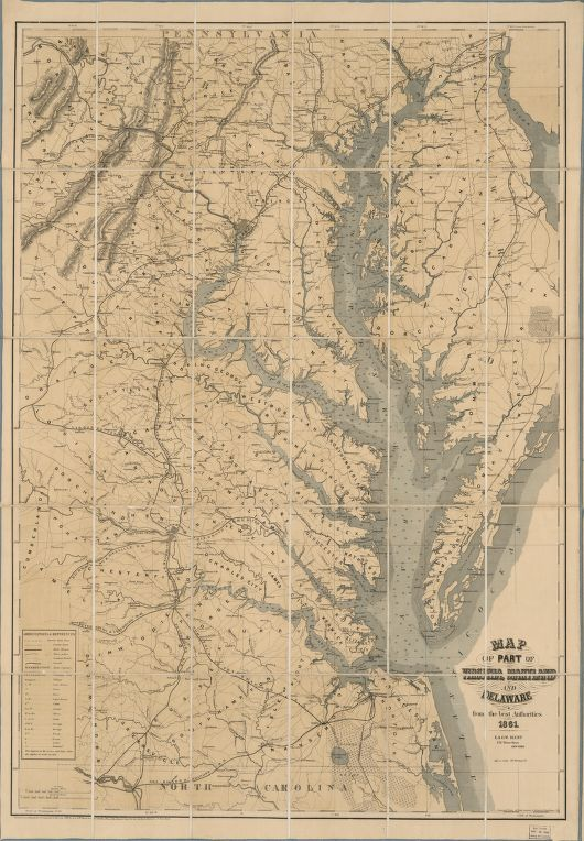 Charting the Chesapeake from a Civil War Map Smithsonian Libraries