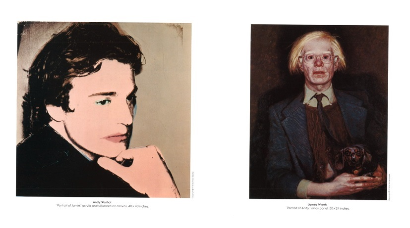"Invitation to to the 1976 exhibition ""Andy Warhol and Jamie Wyeth Portraits of Each Other"" at the Coe Kerr Gallery-- Hirshhorn"