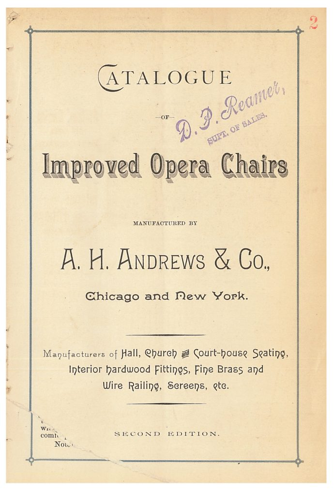 title page of A. H. Andrews & Co. trade catalog