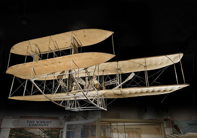 The 1909 Wright Military Flyer, the first military airplane. National Air and Space Museum Collection, transferred from the U.S. War Department