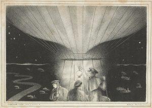 Monck Mason and fellow travelers at night