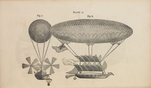 Design for aerial ship by Sir George Cayley, published by Tyler and Reed, London.