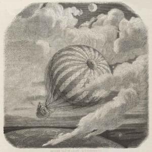 The Unparalleled Adventure of One Hans Pfaall. Balloon landing.