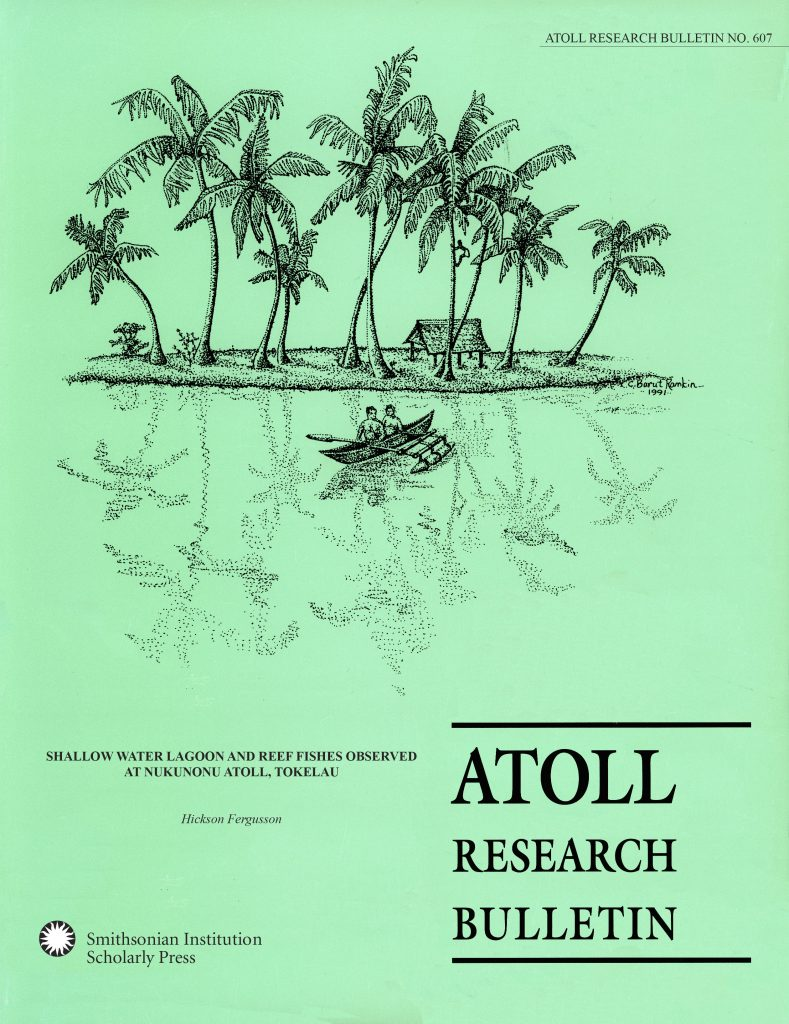 "Cover of ""Shallow Water Lagoon and Reef Fishes Observed at Nukunonu Atoll, Tokelau"", available in SRO."