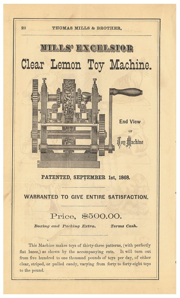 Thomas Mills & Brother Mills' Excelsior Clear Lemon Toy Machine