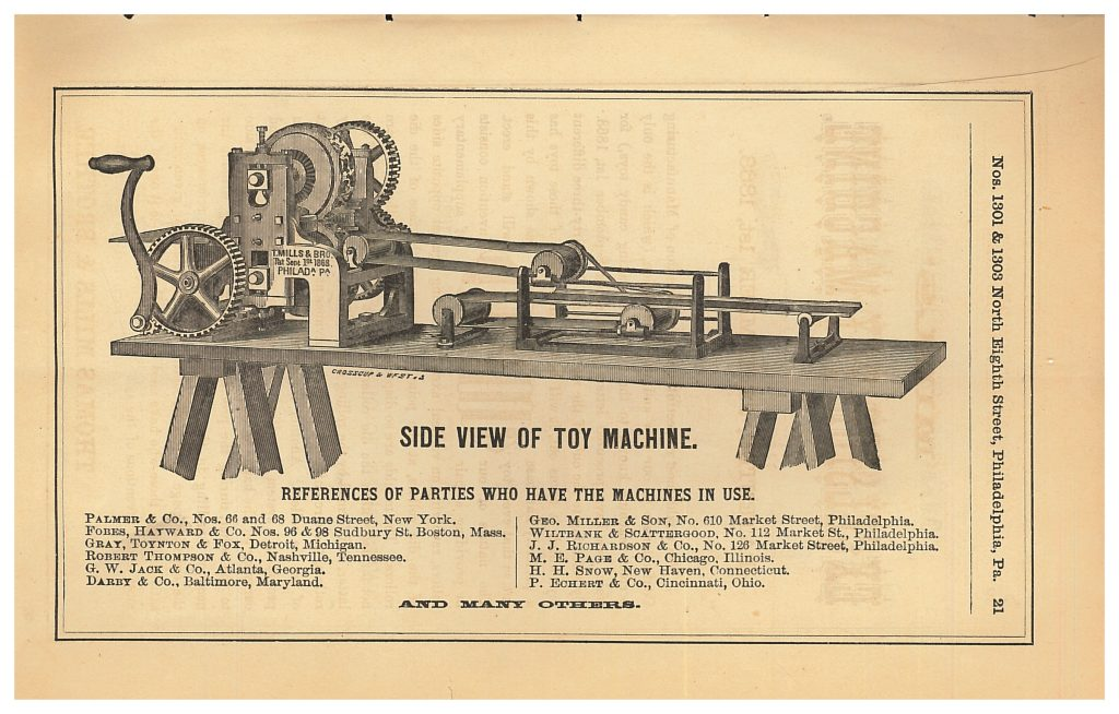 Thomas Mills & Brother Candy Toy Machine side view