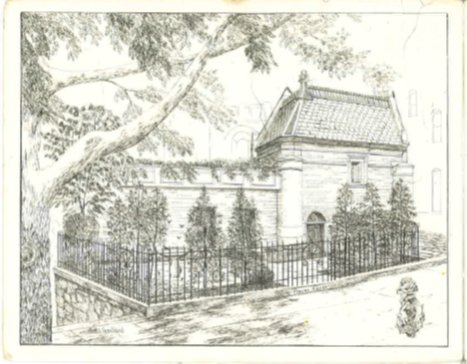 A postcard picturing Olga's famous Mouse House in Washington, DC.