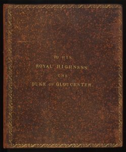 A mottled or speckled binding stamped with gilt lettering on Robert Seppings' On a new principle of constructing His Majesty's ships of war (London, 1814)