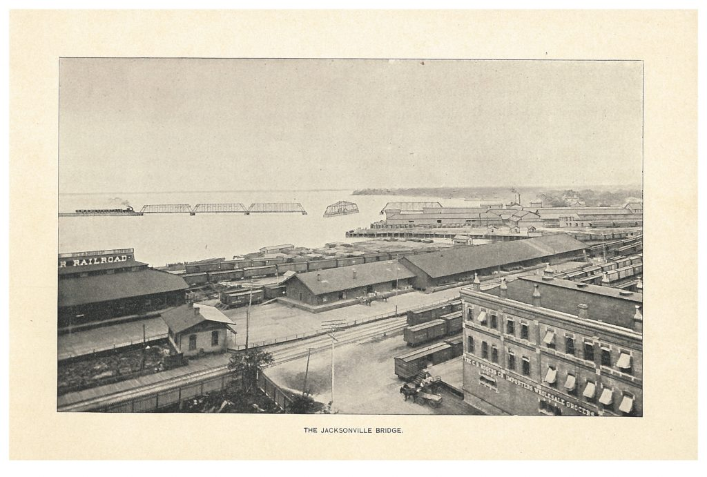 Jacksonville Bridge via the Jacksonville, St. Augustine & Indian River Railway