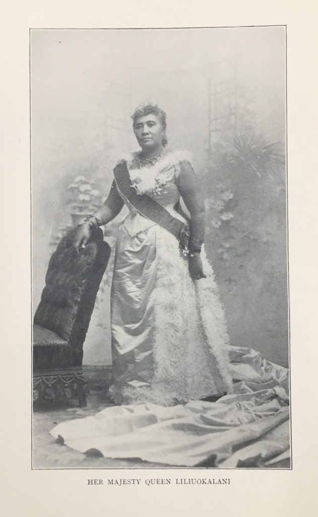 Portrait of Queen Liliuokalani from Hawaii's Story by Hawaii's Queen Liliuokalani.