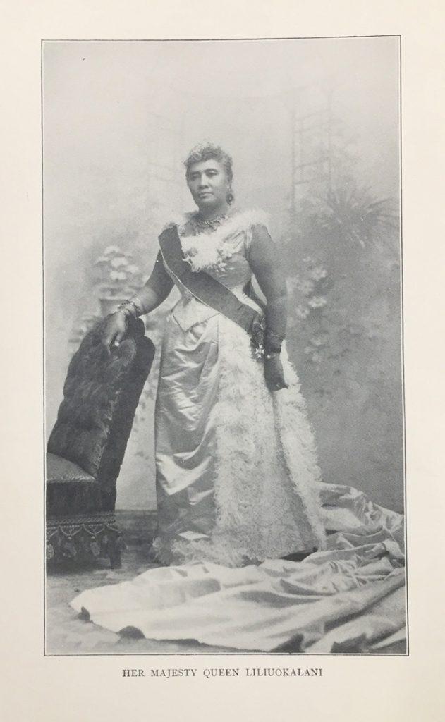 Portrait of Queen Liliuokalani from Hawaii's Story by Hawaii's Queen Liliuokalani.