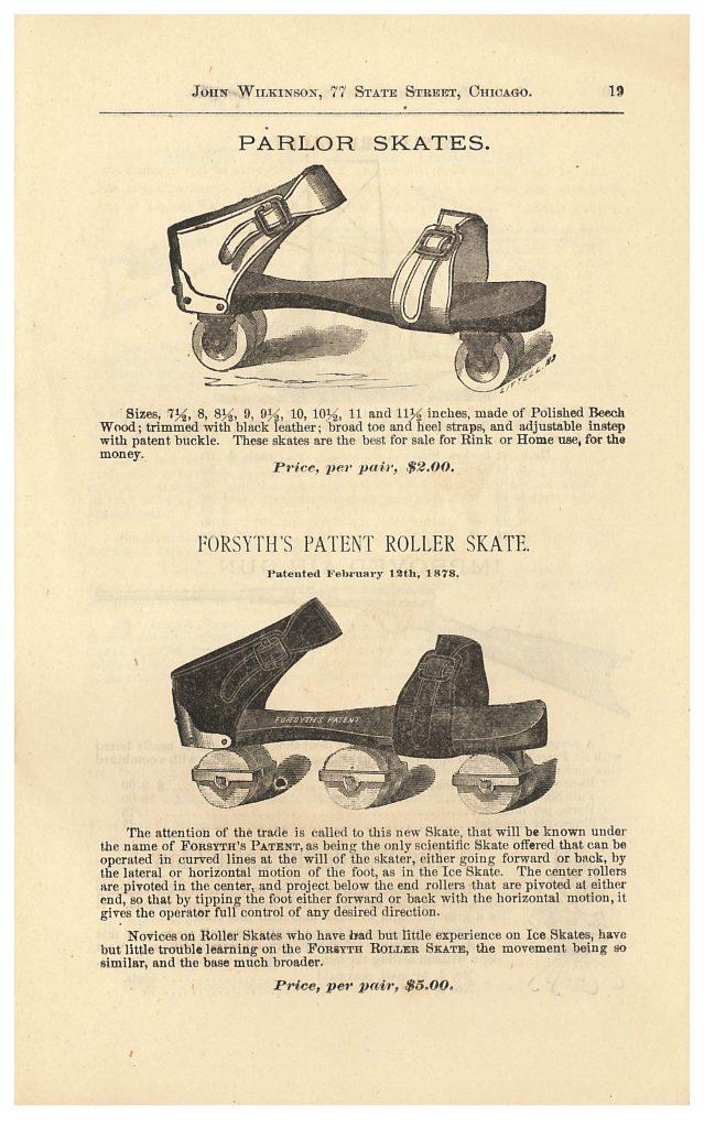 Parlor Skates and Forsyth's Patent Roller Skate