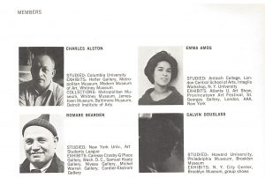 Biography Page from the Spiral exhibition catalogue