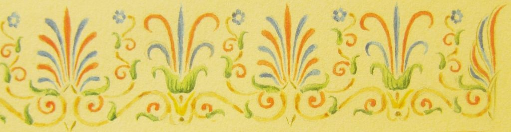 Ornament on one of the pages of the Klassiki Anthodesmi (1855)