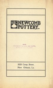 Newcomb Pottery brochure, cover.