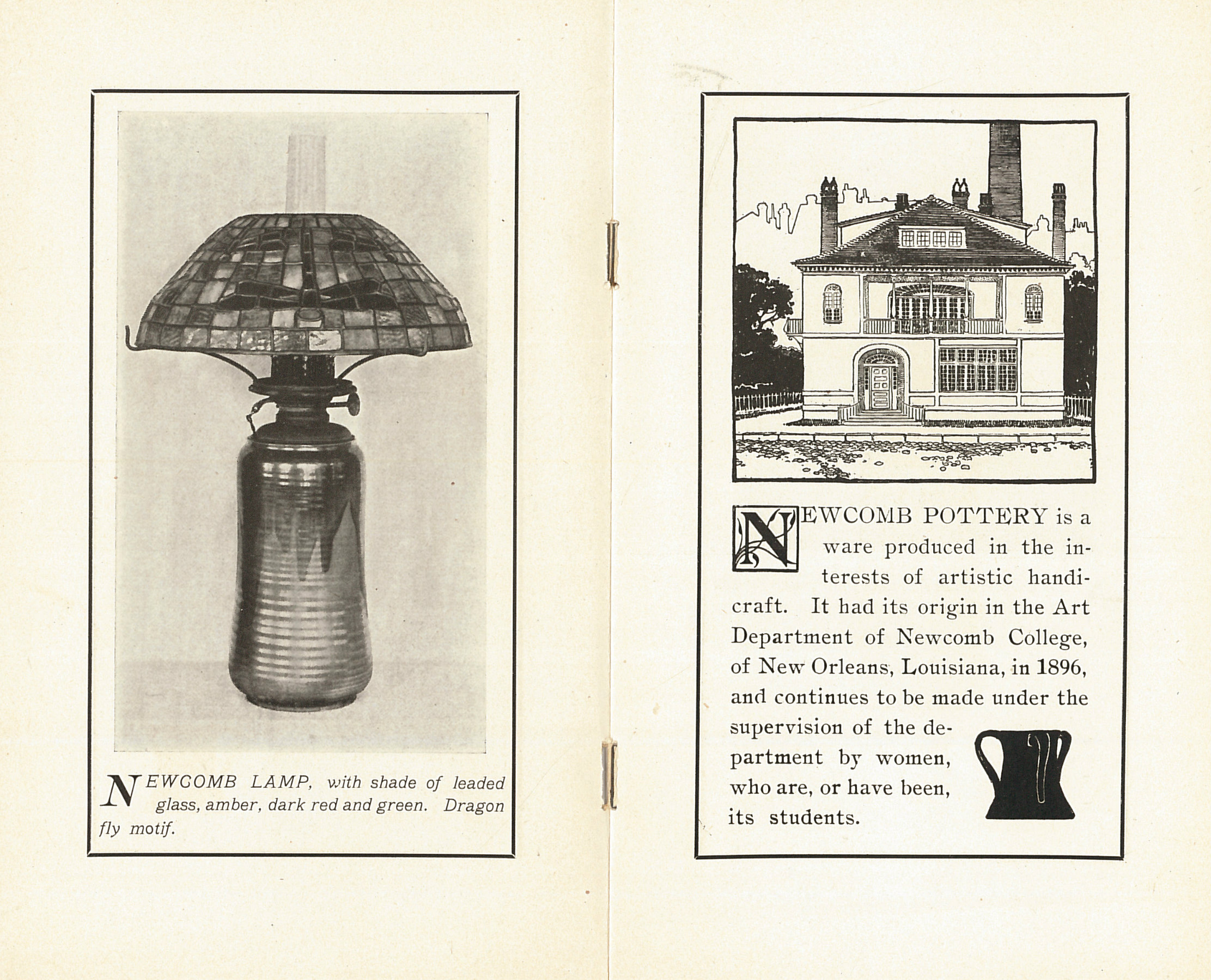 Newcomb Pottery brochure