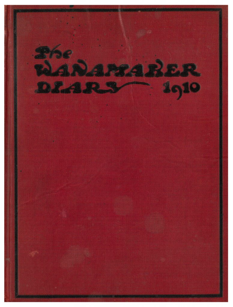 Wanamaker Diary 1910 front cover