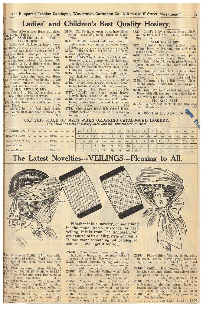 hosiery and veilings