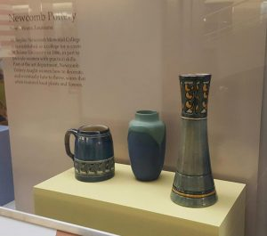 Newcomb pottery pieces
