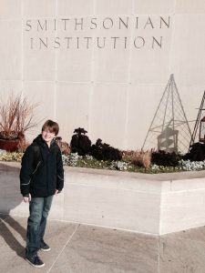 Charlie Solomon in front of the National Museum of American History.