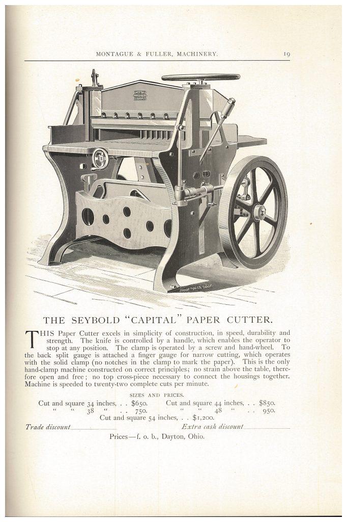 "Seybold ""Capital"" Paper Cutter"