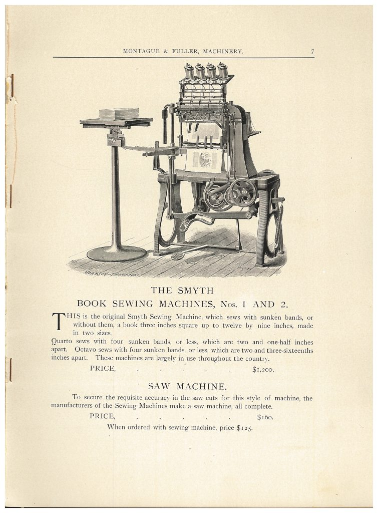 Smyth Book Sewing Machines Numbers 1 and 2