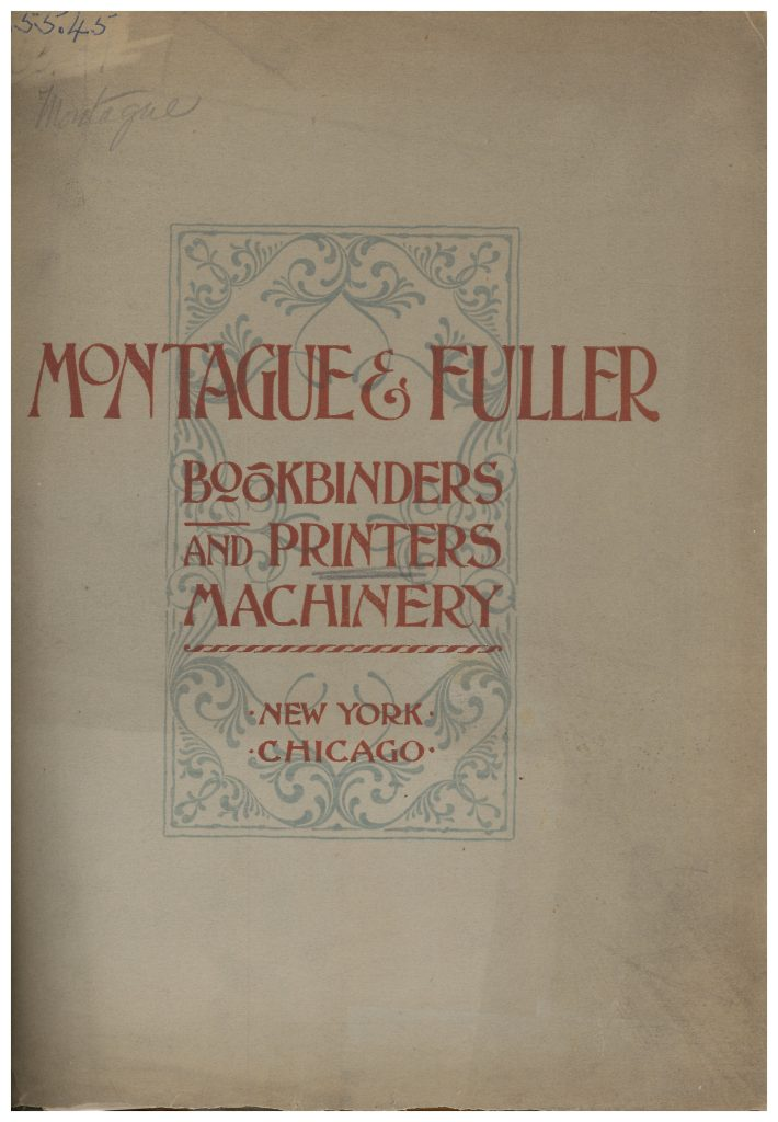 front cover of Montague & Fuller 1892 trade catalog