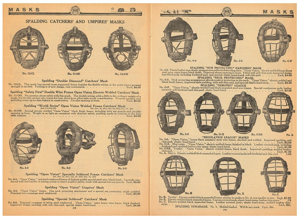 catchers' and umpires' masks