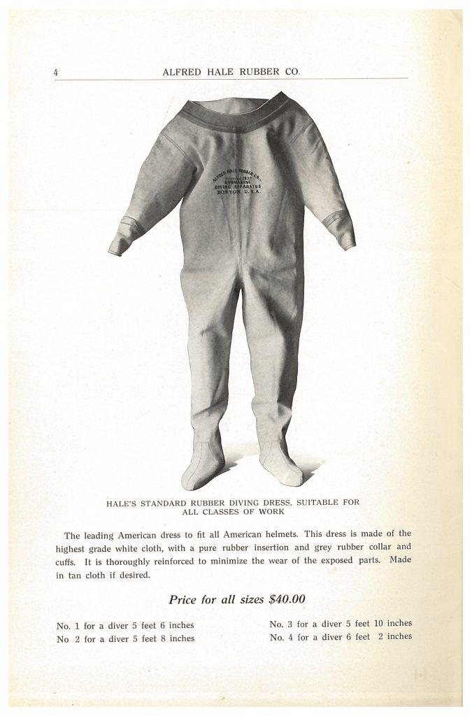 Hale's Standard Rubber Diving Dress