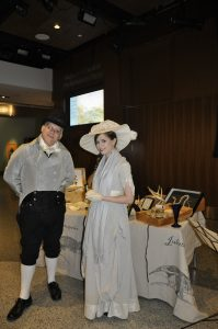 Dean Howarth as Charles Willson Peale and Melinda McCalley as Mary Anning