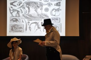 Dean Howarth as Charles Willson Peale speaking on paleontology