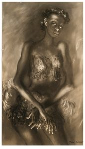 Photo of the John Carroll painting Deep Down