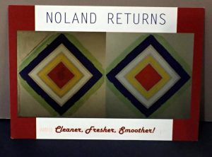 """Noland Returns"" invitation from 2014 Catholic University exhibition"